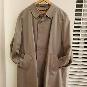 vintage men's burberry-style long coat